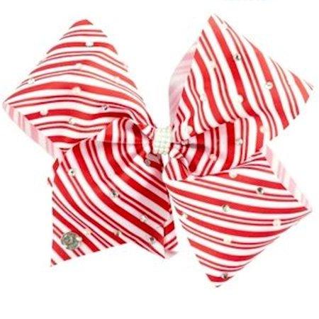 JoJo Siwa Large Cheer Hair Bow (Candy Cane Striped) ()