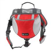 TAILUP Medium Size Outward Pet Dog Backpacks Pet Saddle Bag For Training Camping Hiking Traveling Carrying Food Drink