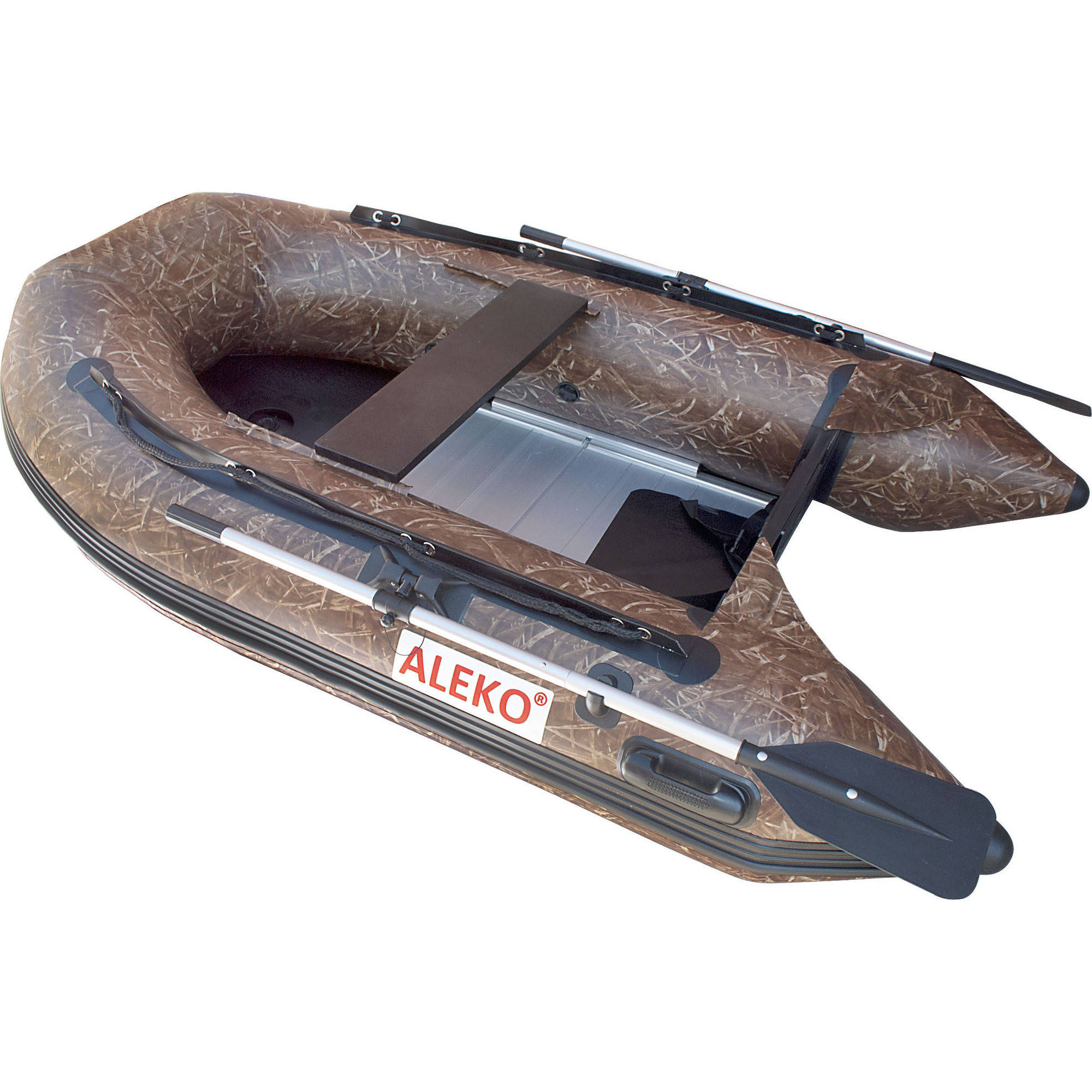 Aleko bt250hu inflatable boat 8 39 4 with aluminum floor 4 for 4 person fishing boat