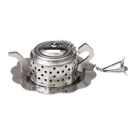 loose leaf tea infuser with caddy teapot 18 8 stainless. Black Bedroom Furniture Sets. Home Design Ideas