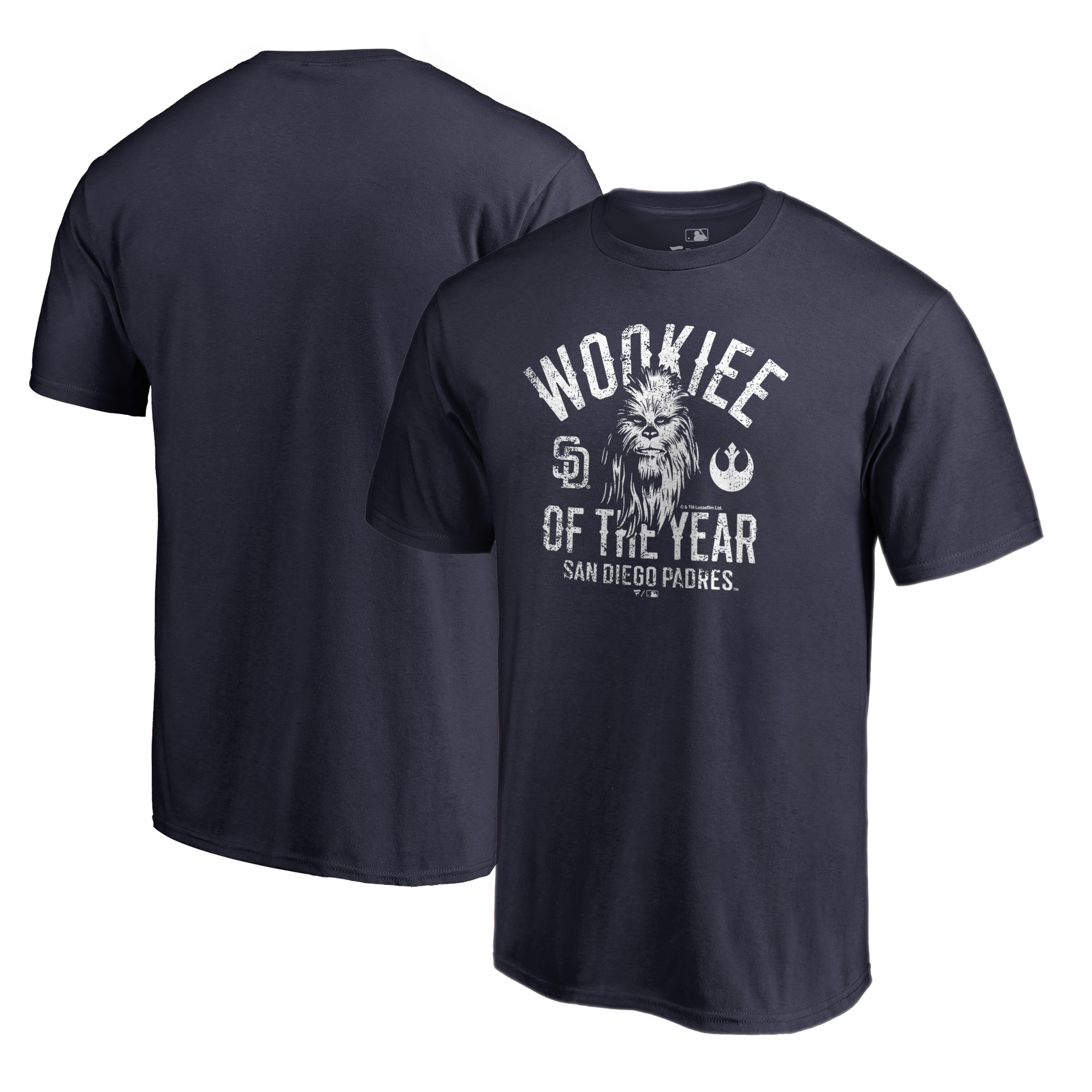 San Diego Padres Fanatics Branded Star Wars Wookiee Of The Year T-Shirt - Navy