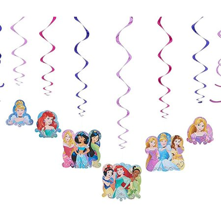 Disney Princess Hanging Party Decorations, 12pc - Disney Princess Party Decor