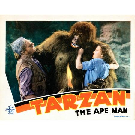 Tarzan The Ape Man Lobbycard From Left C Aubrey Smith Ray Corrigan Maureen Osullivan 1932 Movie Poster Masterprint