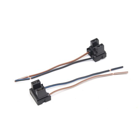 2Pcs H7 Fog Light Lamp Bulb Extension Wiring Harness Socket Connector for -