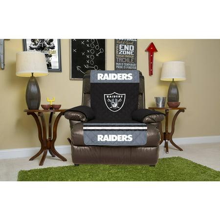 Nfl Licensed Furniture Protector  Recliner  Oakland Raiders
