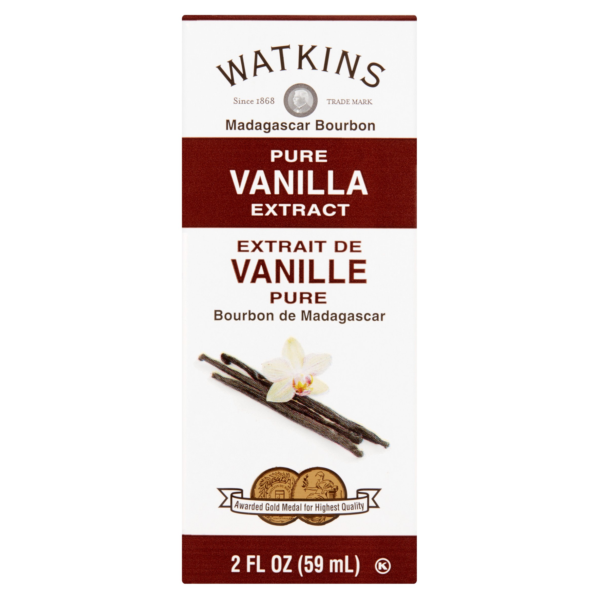 Watkins Madagascar Bourbon Pure Vanilla Extract Coffee Creamer, 2 fl oz, 6 pack