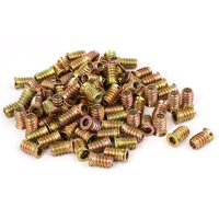 Wood Furniture Fixing Insert Interface Hex Socket E-Nut 6mmx18mm 100pcs