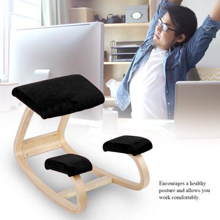 Yosoo Comfortable Ergonomic Kneeling Posture Chair Healthy Wooden Stool Home Office Furniture, Kneeling Posture Chair,Ergonomic Kneeling Chair