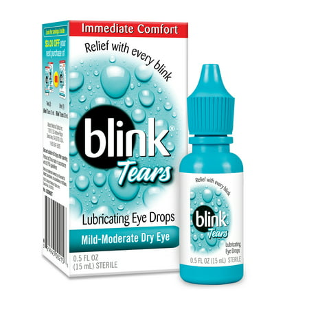Artificial Tears Ophthalmic Solution - Blink Tears Lubricating Eye Drops, 0.5 fl oz