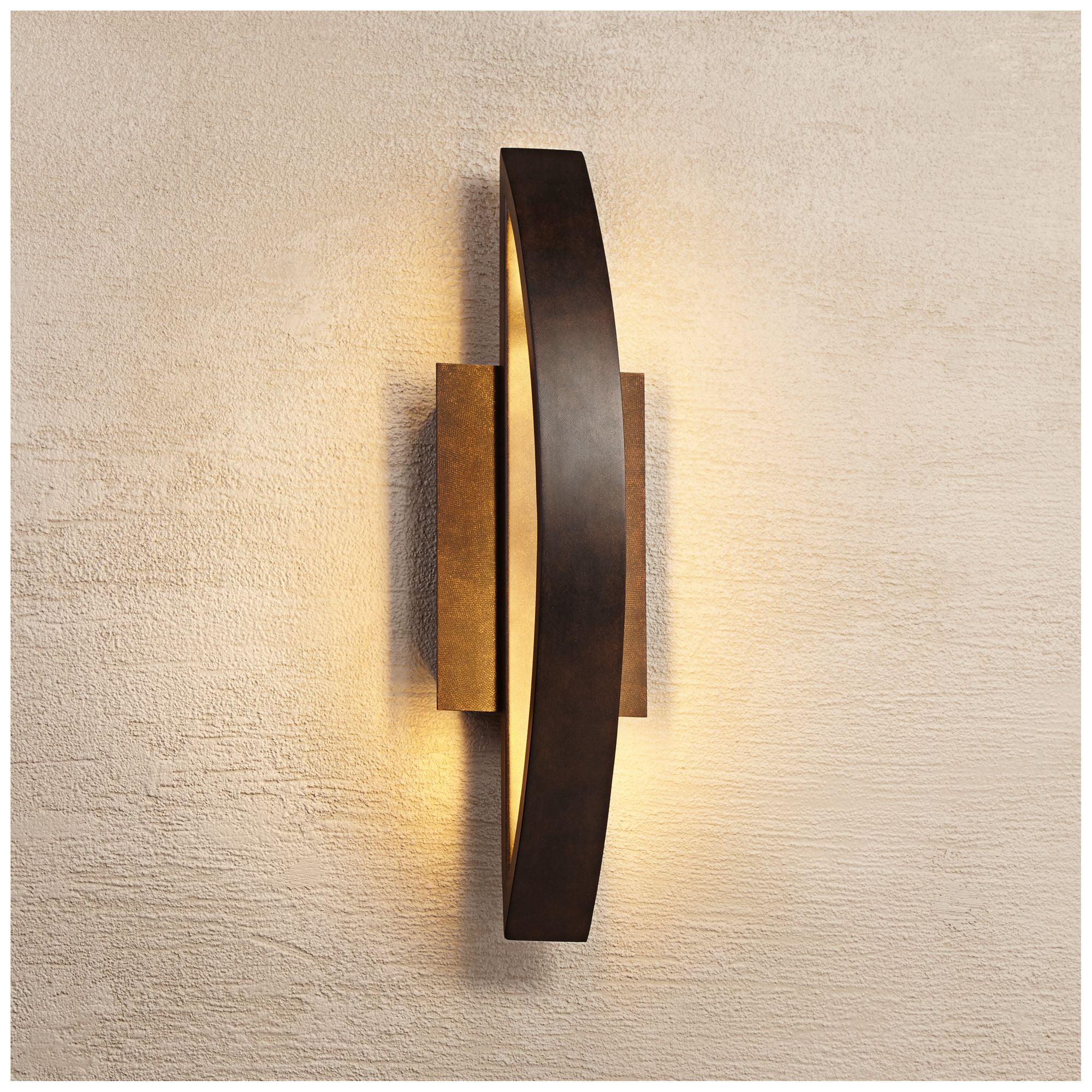 Possini Euro Design Possini Euro Coppered Arch Indoor-Outdoor Led Wall Sconce