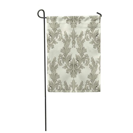 NUDECOR Vintage Baroque Damask Floral Pattern Acanthus Imperial Luxury Classic Garden Flag Decorative Flag House Banner 12x18 inch - image 1 of 1