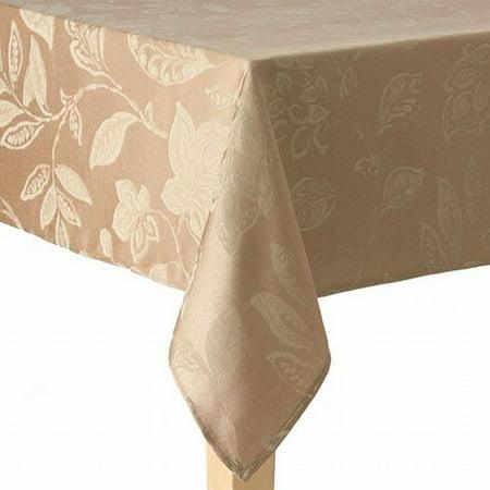 Harvest Season Fabric Tablecloth Golden Khaki Leaf Table
