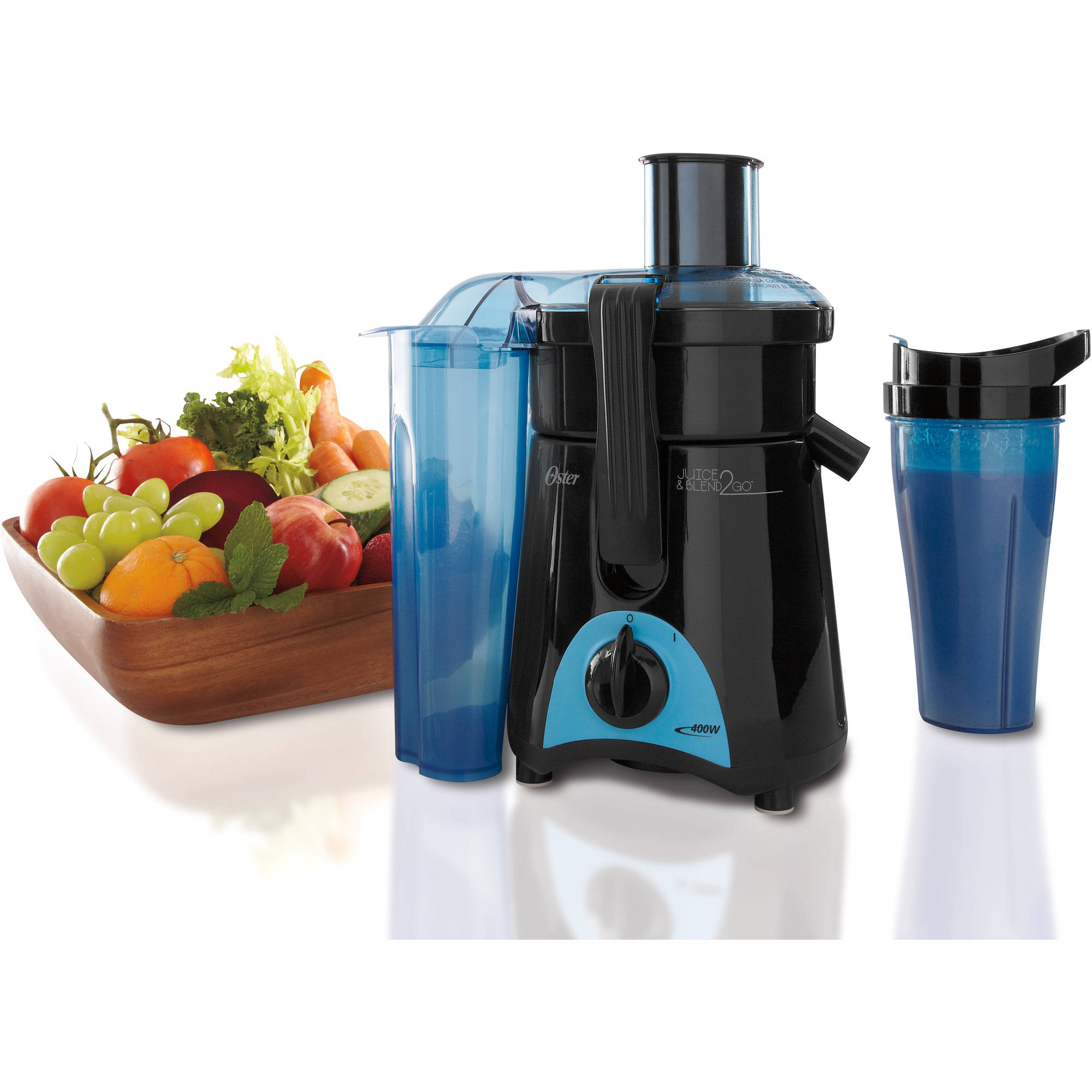 Oster Juice and Blend 2 Go Compact Juice Extractor and Personal Blender, FPSTJE3166-022