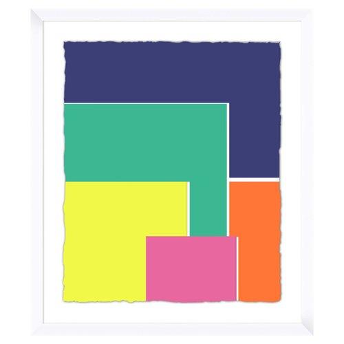 PTM Images Colorful Squares Framed Graphic Art