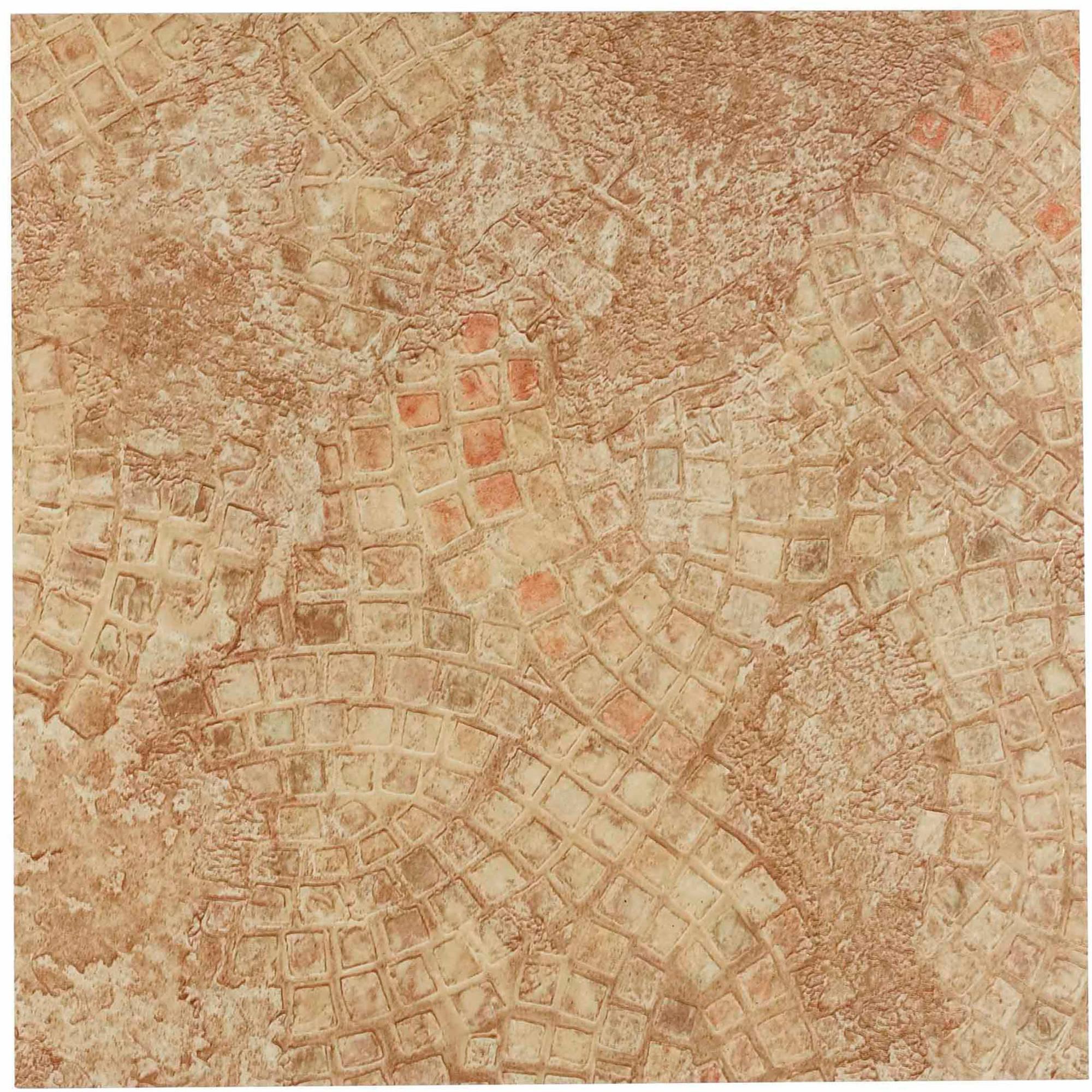 NEXUS Ancient Beige Mosaic 12x12 Self Adhesive Vinyl Floor Tile - 20 Tiles/20 Sq.Ft.