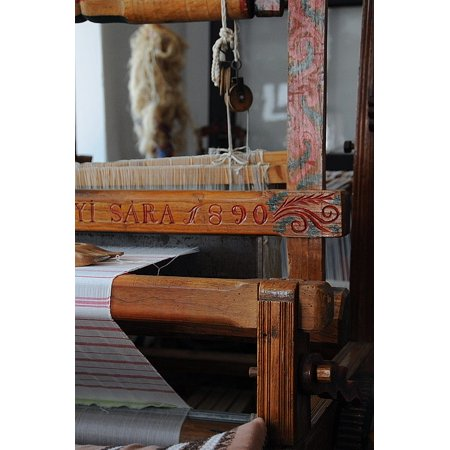 Canvas Print S??rk?ªzi Textile Loom Folk Homespun Ornament Old Stretched Canvas 10 x 14 ()