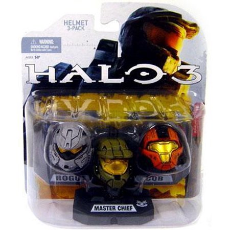 McFarlane Halo Wave 1 Master Chief, Rogue & CQB Helmet 3-Pack](Master Cheif Helmet)