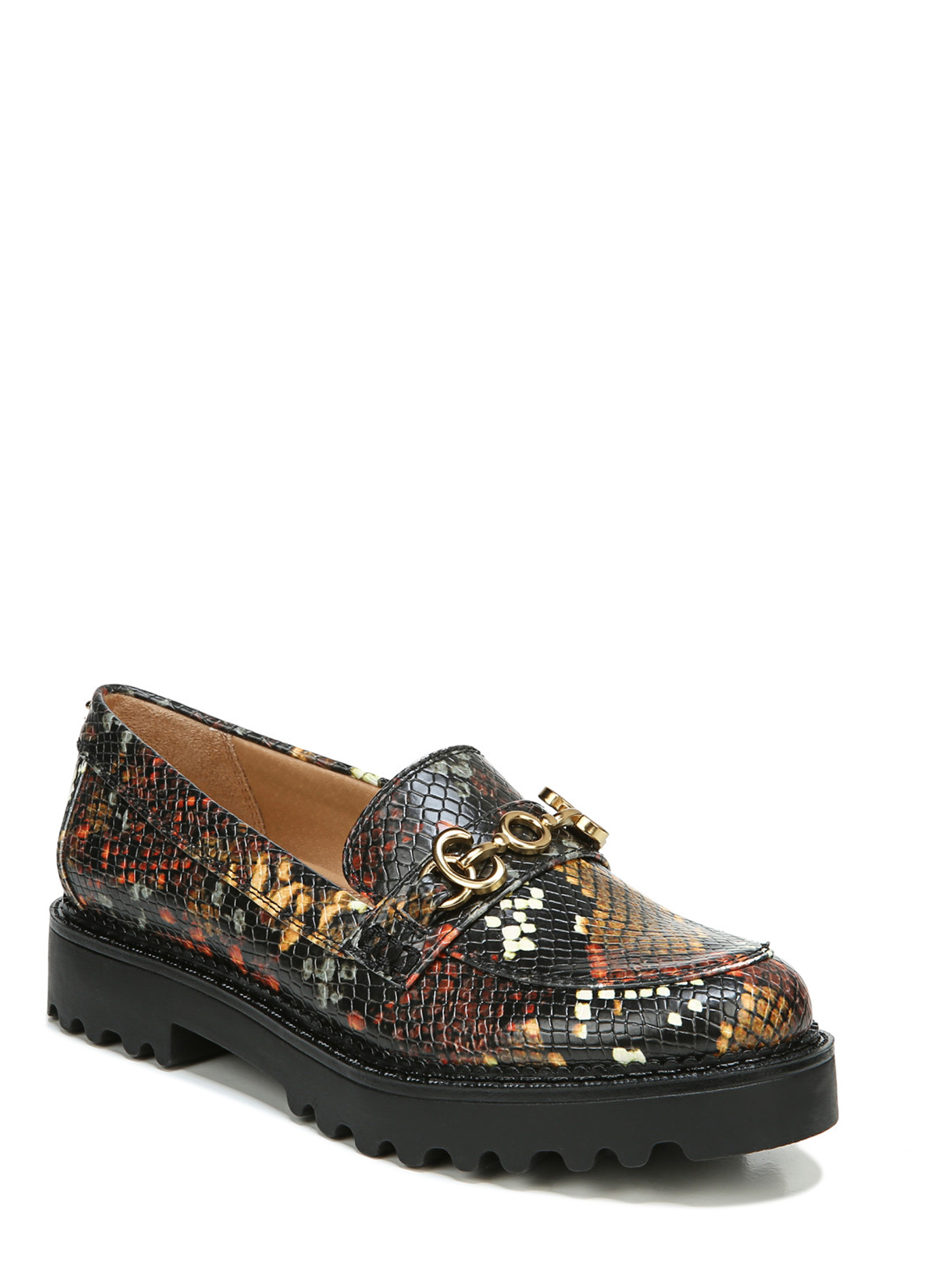 Cactus pattern succulent Black Womens Loafer for womens Low Cut Lightweight