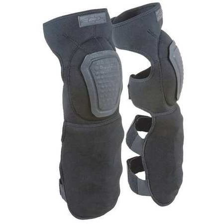 Damascus  Imperial Neoprene Shin Guards with Non-Slip Knee Caps, Black, 1 Softball Sliding Knee Guards