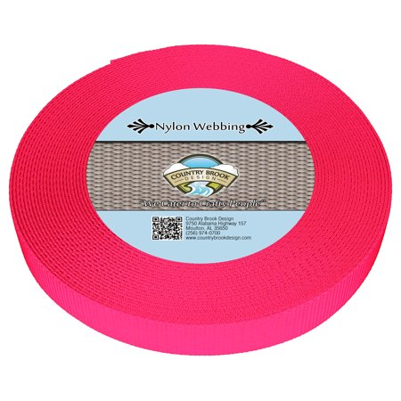 - Country Brook Design® 1 Inch Hot Pink Heavy Nylon Webbing
