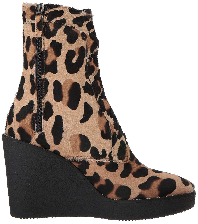 Aquatalia Womens Viviann Haircalf Fur Closed Toe Mid-Calf, Leopard, Size 7.0