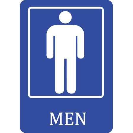 Mens Bathroom Blue Sign Men Public Restroom Signs