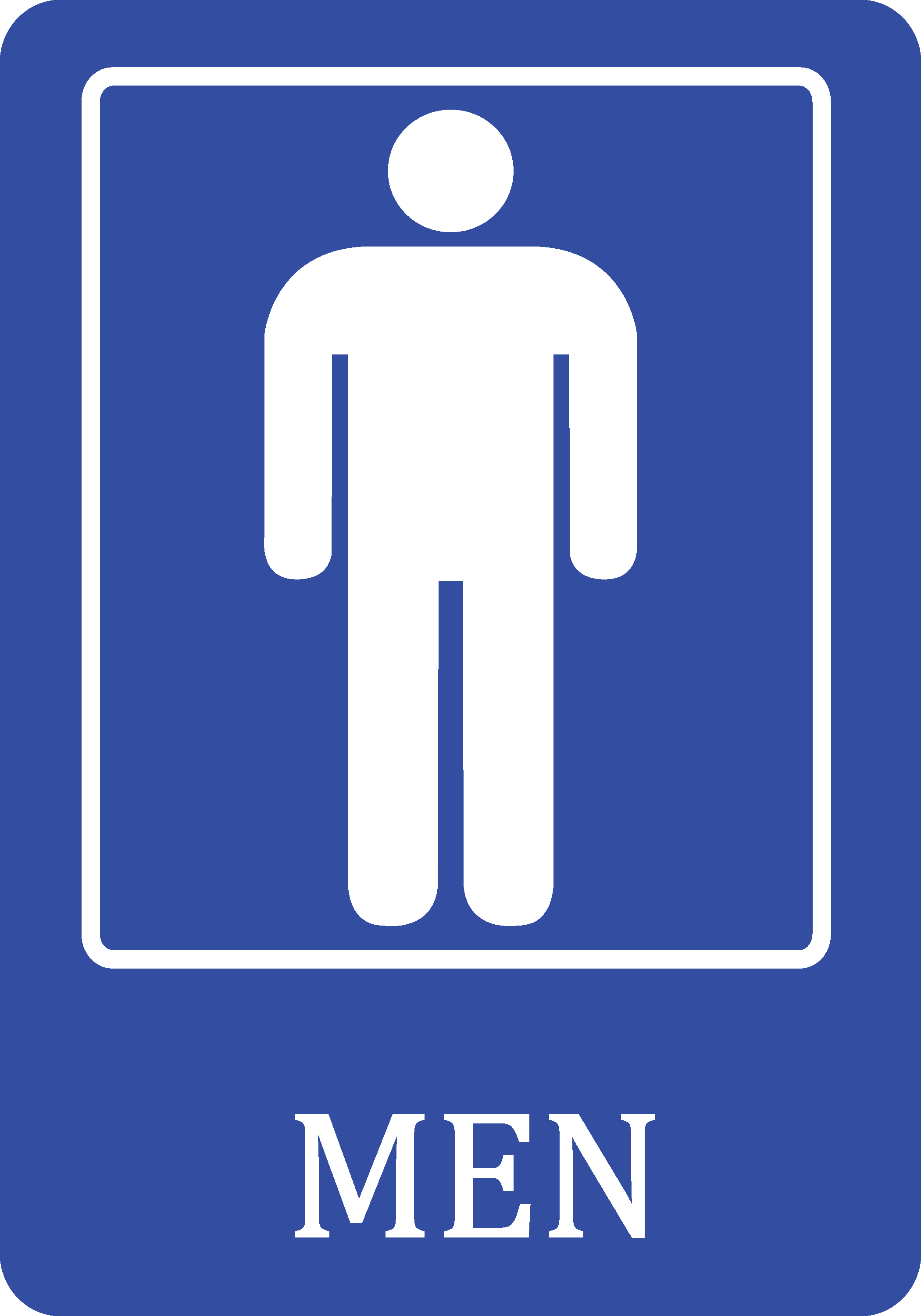 Attrayant Mens Bathroom Blue Sign   Men Public Restroom Signs   Plastic, 12x18    Walmart.com