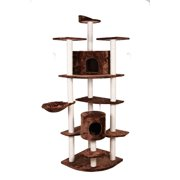 "Confidence Pet 80"" Palace Cat Tree Scratching Post Scratcher Kitten Condo BROWN"