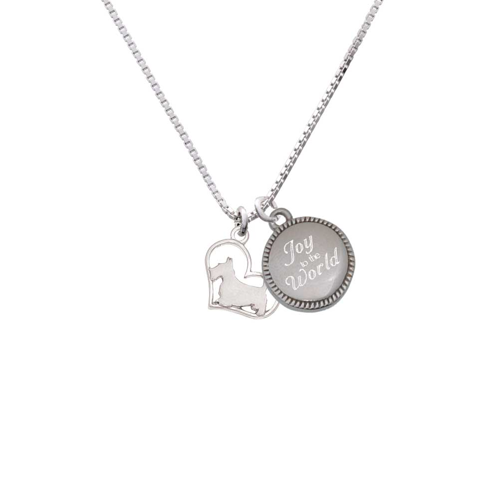 Delight Silvertone Scottie Dog Silhouette Heart - Joy to ...