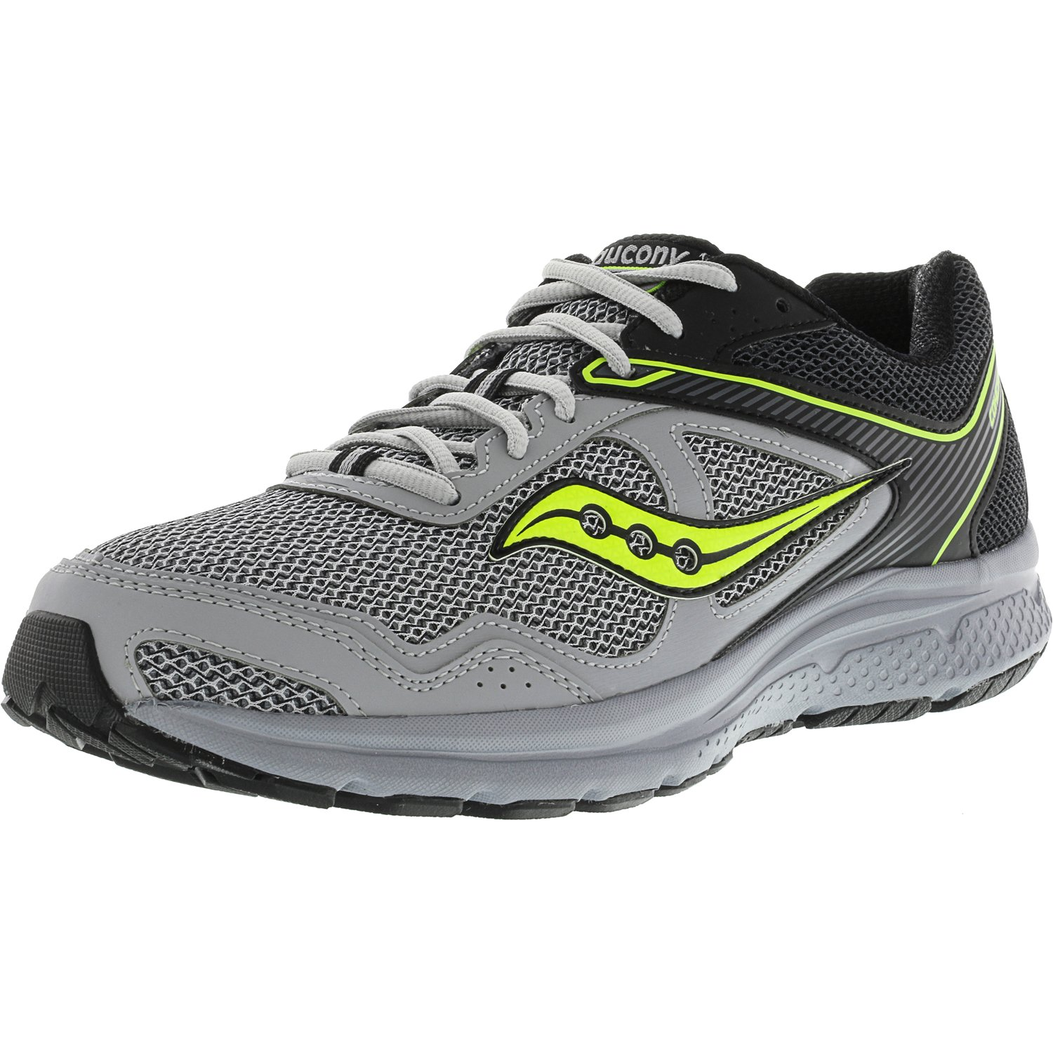 Saucony Men's Grid Cohesion 10 Royal   Black Ankle-High Running Shoe 12M by Saucony
