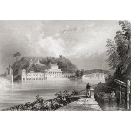 Fairmount Waterworks Schuylkill River Philadelphia America In The 19Th Century From Cyclopaedia Of Useful Arts And Manufactures By Charles Tomlinson Canvas Art   Ken Welsh  Design Pics  17 X 11