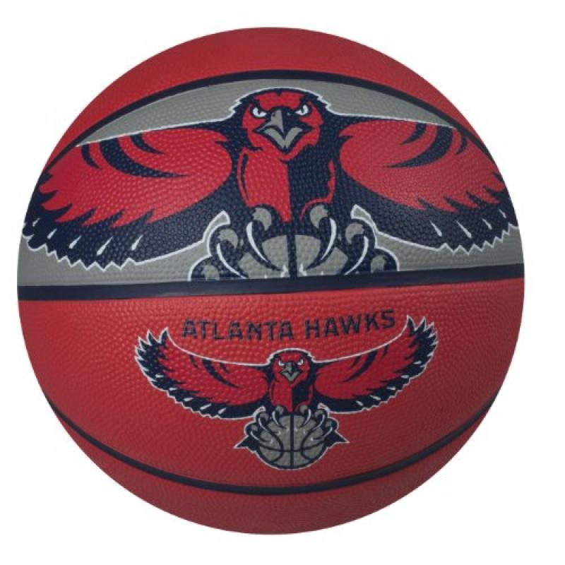 Spalding NBA Atlanta Hawks Courtside Rubber Basketball