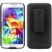 Cellet Shell + Holster + Kickstand Combo Case with Belt Clip for Samsung Galaxy S5