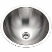 Houzer CR-1620-1 Opus Series Conical Undermount Stainless Steel Single Bowl Lavatory Sink