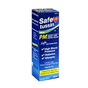 4 Pack - Safetussin PM Night Time Cough Relief 4 oz Each
