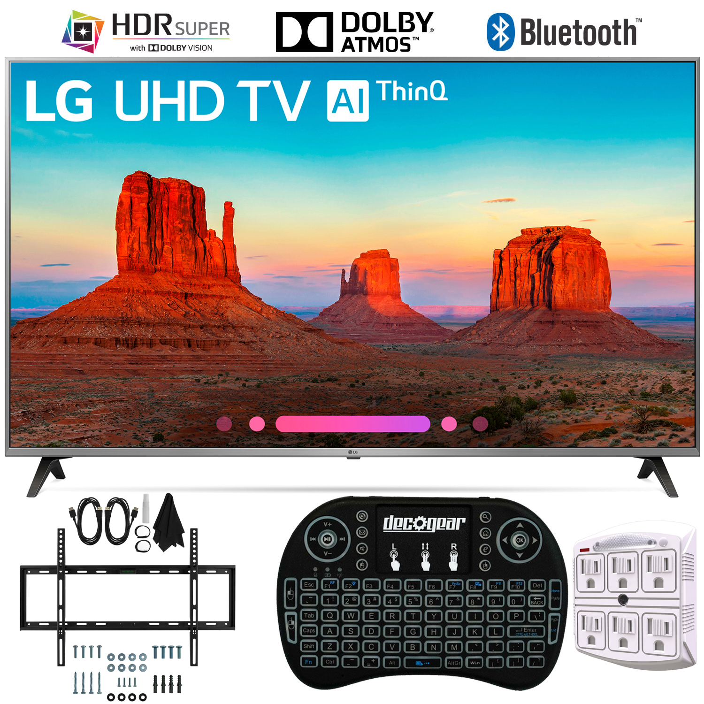 "LG 55UK7700PUD 55"" 4K HDR Smart LED AI UHD TV w/ThinQ (2018) + Wall Mount Bundle"
