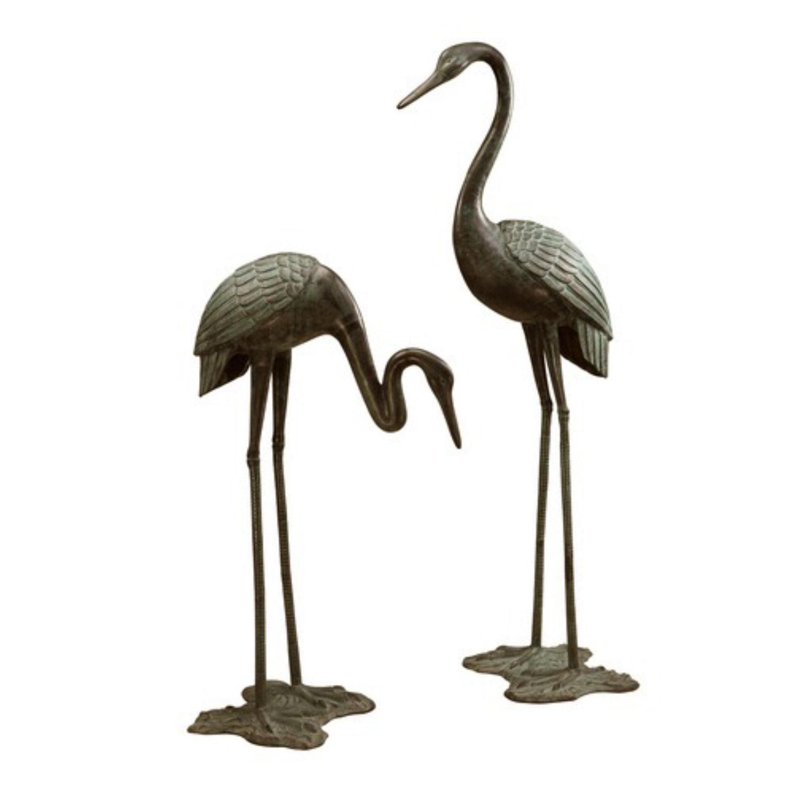 Large Garden Crane Pair