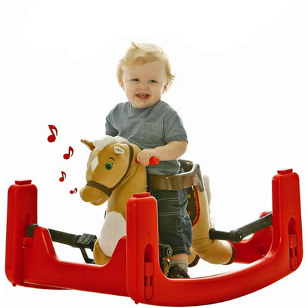 Rockin' Rider Legacy Grow with Me Pony Ride-On, Rocker, Bouncer Convertible to Spring (Spring Racer)