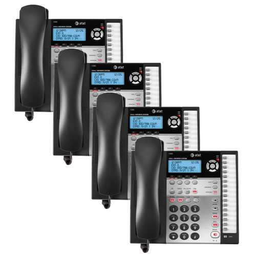 AT&T 1080 (4 Pack) 4-Line Corded Phone w  Answering System by AT&T
