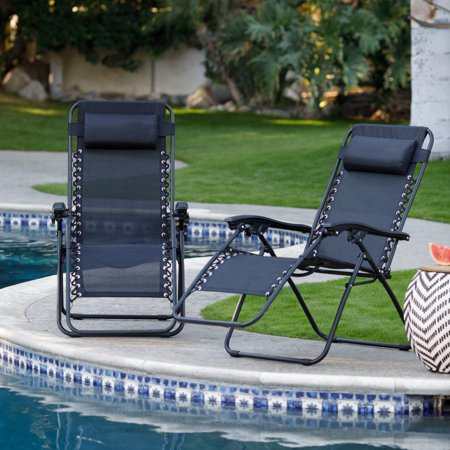 Coral Coast Zero Gravity Lounge Chairs - Set of 2