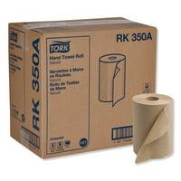 "Tork Universal Hardwound Roll Towel, 7.88"" x 350 ft, Natural, 12 Rolls/Carton -TRKRK350A"