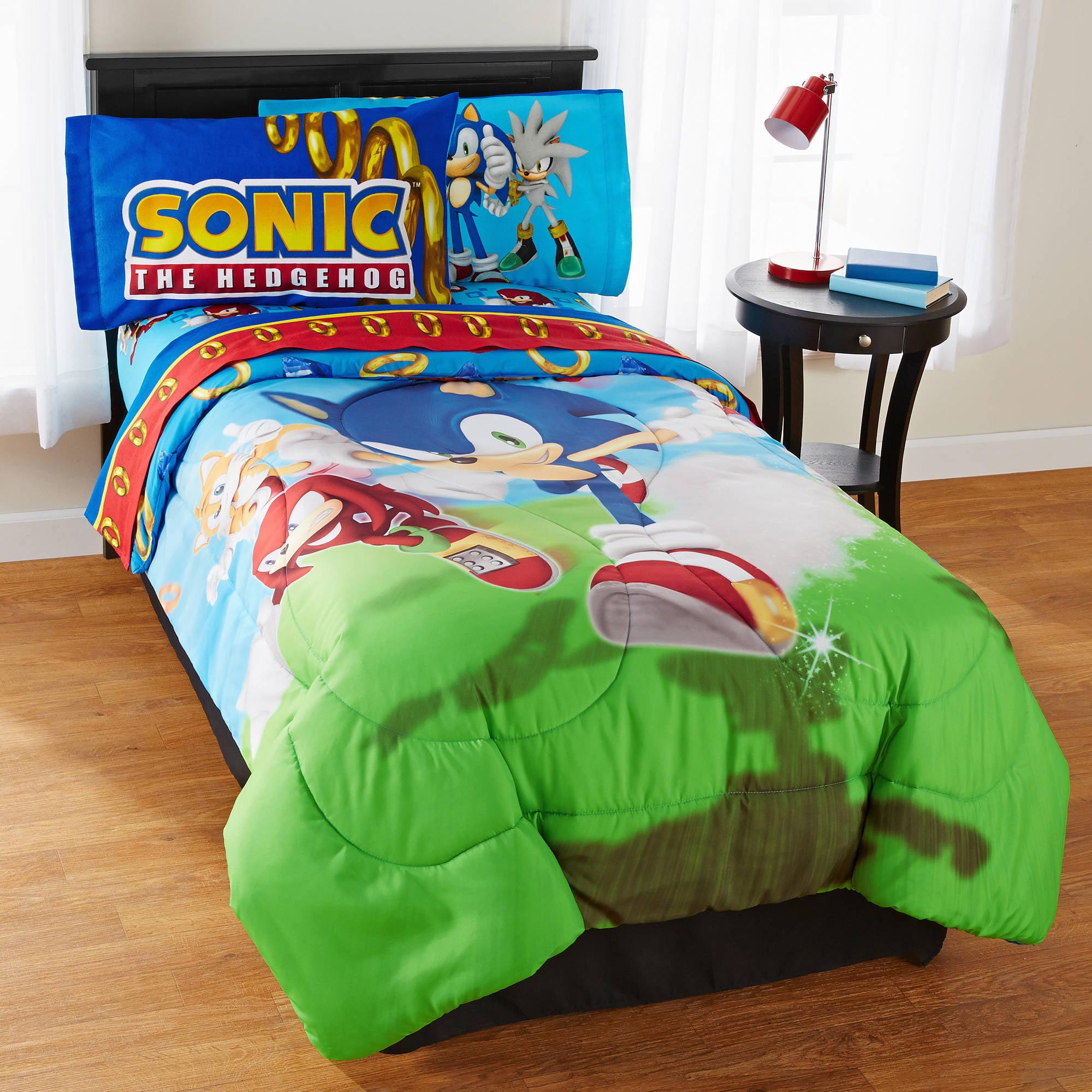 Sonic Speed Microfiber Reversible Comforter   Walmart.com