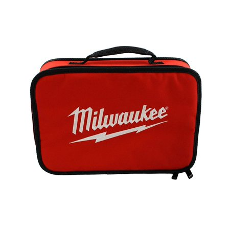 Tool Bag, Milwaukee Tool Bag By Milwaukee Soft side contractor bag made of tough denier material. For job site tools and accessories. Features:  has focused on a single vision: To produce the best heavy-duty electric power tools and accessories available to the professional user. Today, the  name stands for the highest quality, durable and reliable professional tools. Item comes in bulk packaging.