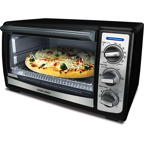 Black & Decker Convection Toaster Oven, Black, TRO4075B