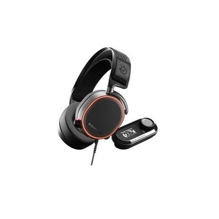 SteelSeries Arctis Pro Headset Full size Wired USB 3.5 mm jack with (Pc Headset To 3-5 Mm Smartphone Adapter)