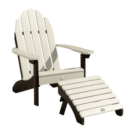 Image of 1 Essential Adirondack Chair with 1 Essential Folding Ottoman