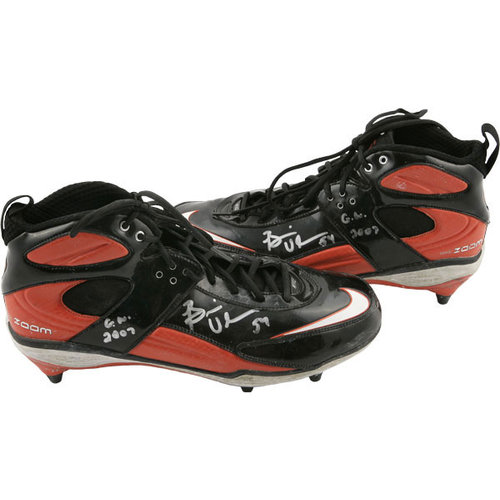NFL - Brian Urlacher Chicago Bears Autographed 2007 Game Used Nike Cleats-Set of 2