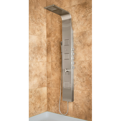 PULSE Waimea ShowerSpa Stainless Steel Shower Panel