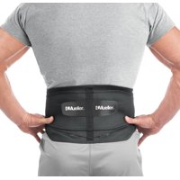 "Mueller Adjustable Lumbar Back Brace with Removable Pad, Regular, Fits Waist Sizes 28"" - 50"""