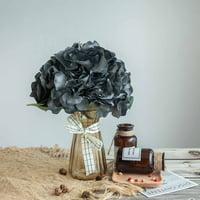 Efavormart 5 Pack   25 Heads Silk Hydrangea Artificial Flower Bushes Wedding Arrangements